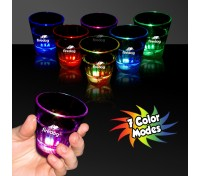 2 Oz.  Rainbow Light-Up Shot Glass