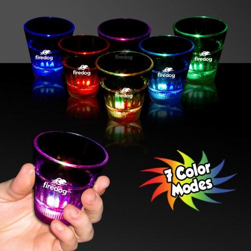 2 Oz.  Rainbow Light-Up Shot Glass