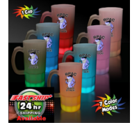 "20 Oz. Multi-Color Glowing ""Neon"" Beer Mug"