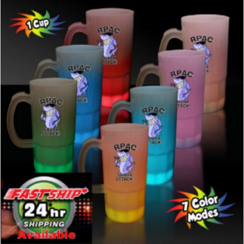 "20 Oz. Multi-Color Glowing ""Neon"" Beer Mug"