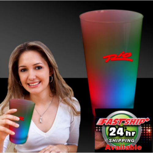 16 Oz. Multi-Color LED Pint Glass