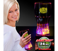 12 Oz. Multi-Colored Flashing Light-Up Drink Glass