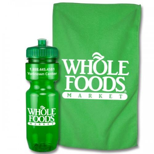 22 Oz. Sports Bottle & Rally Towel Workout Sport Set