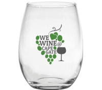 15 Oz. Stemless White Wine Glass
