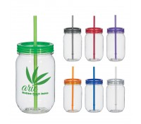 25 Oz. Tritan™ Mason Jar With Matching Straw