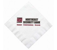 White Luncheon Napkin, Coin Edge Embossing