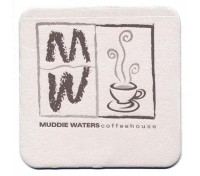 "80 point, White, 3.5"" Square Pulpboard Coasters"