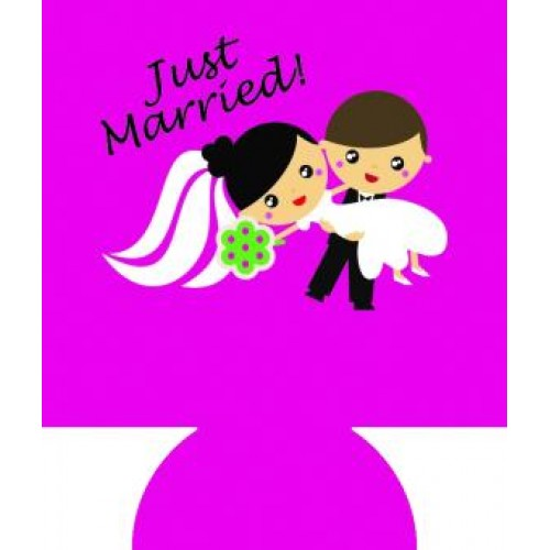 Bride And Groom Full Color Hugger Koozies