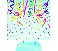 Celebration Print Full Color Hugger Koozies
