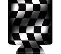 Checkered Flag Full Color Hugger Koozie