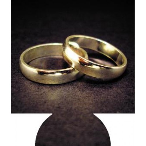 Gold Wedding Rings Full Color Hugger Koozies