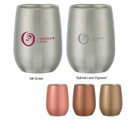 9 Oz. Stemless Stainless Steel Wine Glass