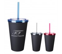 16 Oz. Newport Tumbler with Straw
