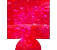 Heart Print Full Color Hugger Koozies