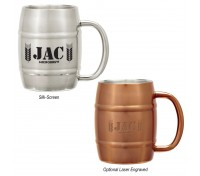 14 Oz. Moscow Mule Barrel Stainless Steel Mug