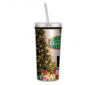 16 Oz. Niagara Four Color Tumbler with Screw on Straw Lid