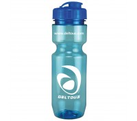 22 Oz. Translucent Bike Bottle with Flip Top Lid