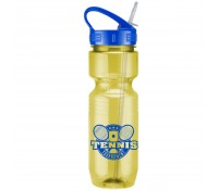 26 Oz. Translucent Jogger Bottle with Sport Sip Lid & Straw