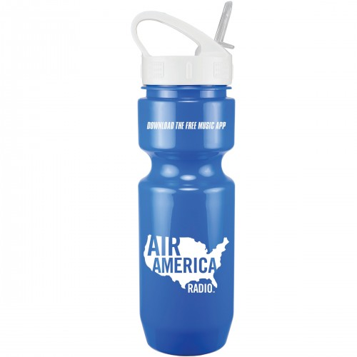 22 Oz. Bike Bottle with Sport Sip Lid and Straw