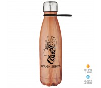17 Oz. Stainless Steel Bottle with Silicone Strap