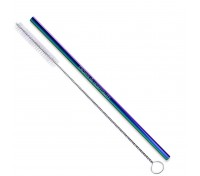Colored Stainless Steel Straw & Cleaning Brush