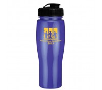 24 Oz. Contour Bike Bottle with Flip Top Lid