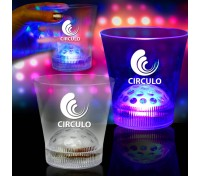 9 Oz. Light-Up LED Disco Ball Rock Glass