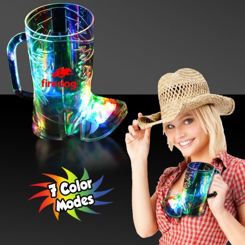 OUT OF STOCK - 16 Oz. Cowboy Boot Light-Up Cup