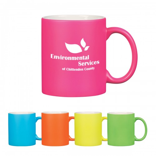 11 oz. Neon Ceramic Mug