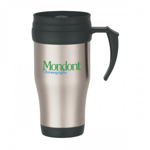 16 oz. Stainless Steel Travel Mug with Slide Action Lid